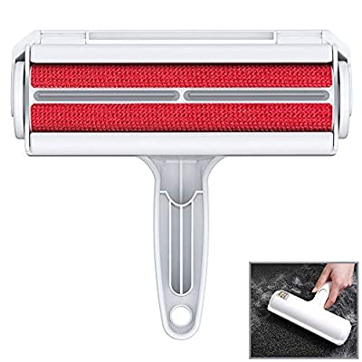 ORDORA Pet Hair Remover for Furniture/Bed, Reusable Dog Hair Remover Roller for Dog & Cat, Self-Cleaning, No Adhesive or Sticky Tape Needed, Perfect Fur Remover for Couch, Car, Carpet