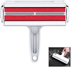 ORDORA Pet Hair Remover for Furniture/Bed, Reusable Dog Hair Remover Roller for Dog & Cat, Self-Cleaning, No Adhesive or Sticky Tape Needed, Perfect Fur Remover for Couch (Red)
