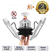 Tanbaby Indoor Deformable 6000LM 60W Garage Ceiling LED Lights