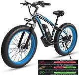 Bicicleta de montaña eléctrica, Bicicleta eléctrica de montaña for adultos, tres modos de funcionamiento de la bici eléctrica, 26' Fat Tire MTB 21 Speed Gear conmuta / campo a través eléctrico de la