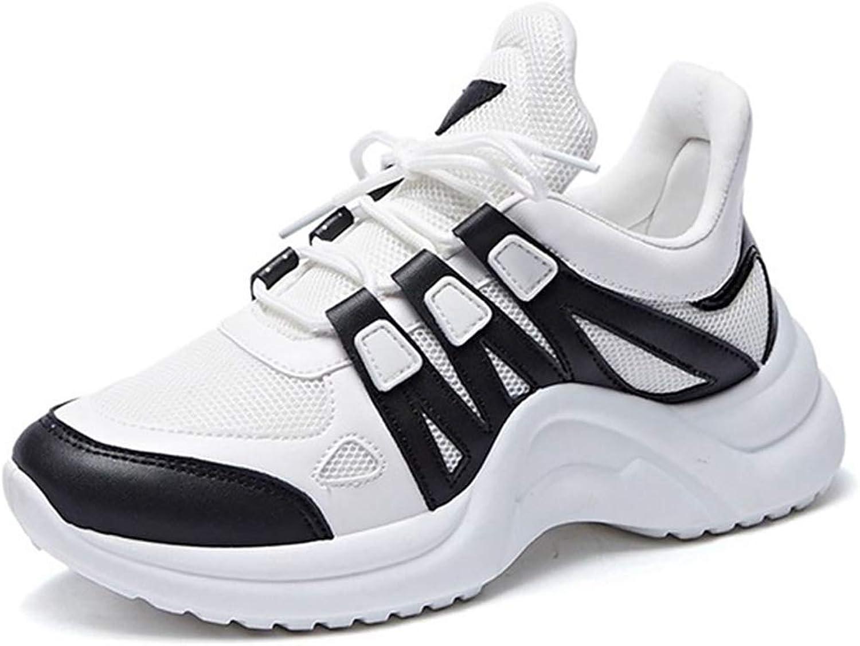Wallhewb Girls Patchwork Breathable Wedges Sneakers Ladies Fashion Antiskid Casual shoes Elegant Rubber Sole Fashion Reasing Leg Length Girl Girl Leg Length bluee 9 M US Flat shoes