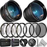 55MM Vivitar Essential Lens & Filter Accessory Kit for Nikon AF-P DX...