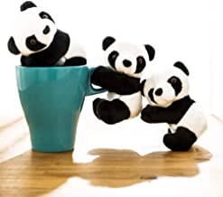 NIU MANG Finger Panda Plüsch Panda Clip Cute Panda Plüsch Spielzeug Panda Clip Entspannungsspielzeug Finger Spielzeug Kinder Spielzeug Heimdekoration, 10,2 cm 6 Stück