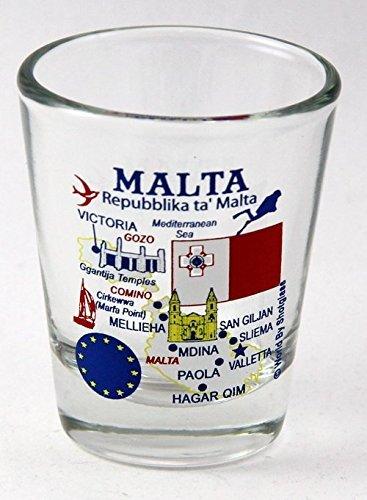 Malta EU Series Landmarks and Icons Shot Glass