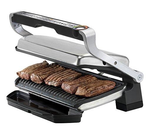Tefal Optigrill+ XL GC722D16 - Plancha de 2000 W de superfície estriada XL y 9 programas de cocción con indicador de cocción y modo manual y de descongelación