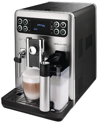 Saeco HD8855/01 Exprelia Kaffeevollautomat, Milchkaraffe, Edelstahl/schwarz
