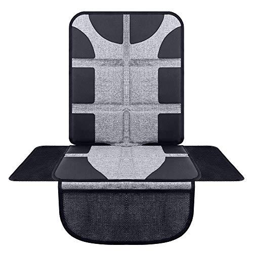 SYSTEMOTO Auto Sitzschoner für Kindersitze - Erstklassige Kindersitzunterlage in universeller Passform, Isofix-geeignet, extra rutschfest (Grau)