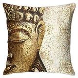 iksrgfvb Fundas de Almohada Fundas de Cojines decoración Zen Be Your Own Refuge Buda en el sofá Cama de Coche 45X45 CM