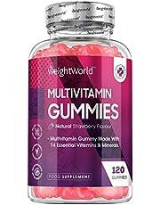 Multivitaminen Gummies - Kauwbare vitamine gummies met 14 vitamines en mineralen - Met Vitamine A, Vitamine C, Vitamine D en Vitamine B12-120 natuurlijke complex gummies