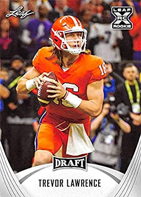 2021 Leaf Draft #1 Trevor Lawrence Clemson Tigers XRC Official Pre Draft Football Rookie Card in Raw (NM or Better) Condition