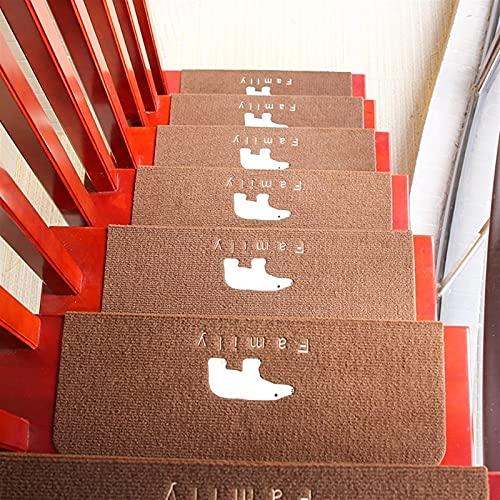 5 PCS 85 / 95cm Pisas de escalera Aparteza antideslizante Luminoso Alfombra de interior Escalera de la escalera Pisada de la escalera Alfombras de la escalera Llantas resplandecientes Soporte de goma