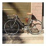 without logo AFTWLKJ Acero 700C Retro Cinta de Trama Fija Moto Reductor con Vía de Bicicletas Fixie Bicicleta 52cm Marco de la Vendimia DIY (Colore : Black, Dimensioni : 52cm (175cm 180cm))