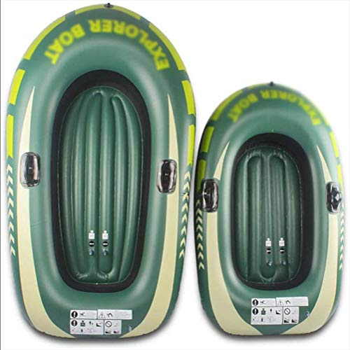 Fishing Touring Whitewater Kayaks for Adults Fishing, 1/2 Person Canoe Fishing Boat Inflatable Boat Set, Raft Inflatable Kayak,S