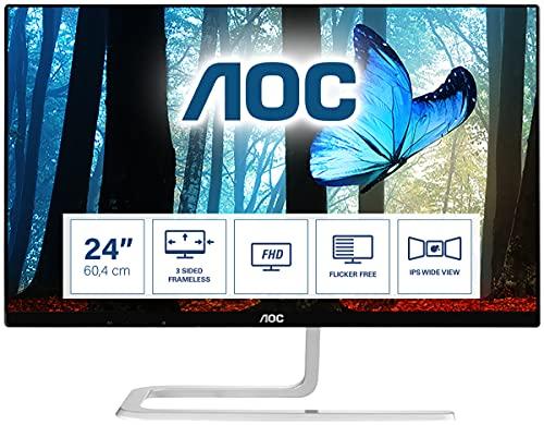 AOC i2481FxH 60,5 cm (23,8 Zoll) Full-HD Monitor (VGA, 2xHDMI, 4ms Reaktionszeit, 60 Hz, 1920 x 1080 Pixel) schwarz