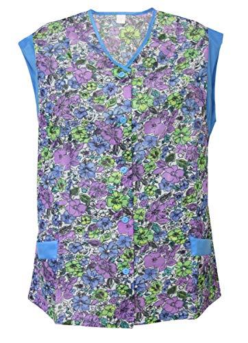 Kasack Hosenkasack Kittel kurz Schürze Dederon Polyester bunt, Farbe:Dessin 1, Größe:50