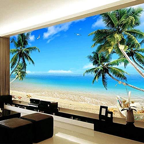 Papel tapiz fotográfico estéreo 3D Cascada de pared de piedra Mural de paisaje natural Sala de estar Dormitorio Decoración del hogar Etiqueta de la pared-250X175cm