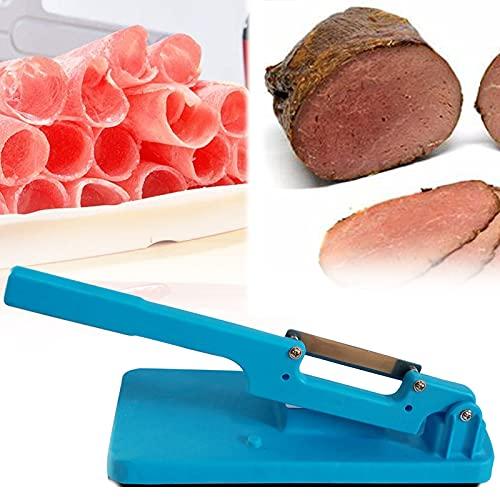Affettatrice da Tavolo Multifunzionale, Affettatrice per prosciutto per uso domestico, Stainless Steel Manual Meat Cutter, Affettatrice Portatile da Cucina Meat Beef Mutton Roll Meat Food Slicer