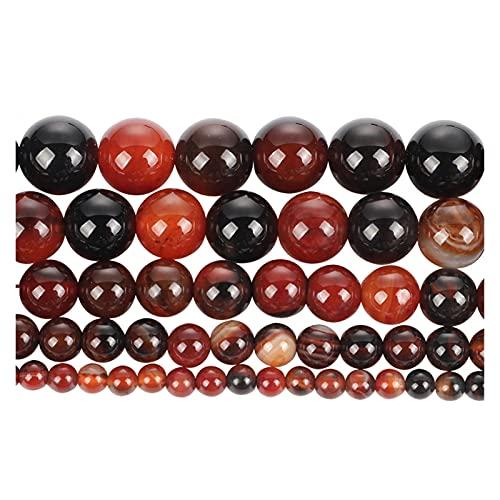 THEAHUE HG904 Perlas de Piedra Natural Brown Agate Suelta Beads para joyería Haciendo Costura Bricolaje Pulsera Strand 4-12 mm Encantos de Abalorios (Color : H7343, Item Diameter : 6mm About 63 pcs)
