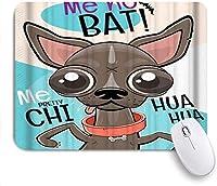 印刷されたマウスパッドレジャー旅行者チワワ犬漫画面白い、ゲームプレーヤーのための装飾的なマウスパッドオフィス、机の装飾、9.5x7.9インチ