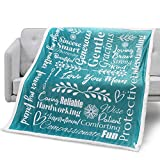 Mami Home - I Love You Mom Blanket Gift for Loving & Inspiring Mom | Mom Gifts from Daughter or Son | Thoughtful Uplifting Gift for Mom Birthday, Mothers Day (Teal, Sherpa Fleece)