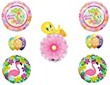 Beach Baby Tweety Bird Birthday Shower Party Balloons Decoration Flamingo Hibiscus