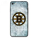 iPhone 7 Case,iPhone 8 Case,Hockey Teams Silicone Bumper Frame and PC Back Cover Cases for iPhone 7/8 4.7' (Bruins-BOS)