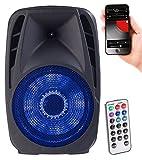 auvisio móvil Caja de Fiesta: Sistema de megafonía móvil con Bluetooth, MP2, USB, Dakota del Sur, 100 vatios, Karaoke (móvil Pensilvania inversión)