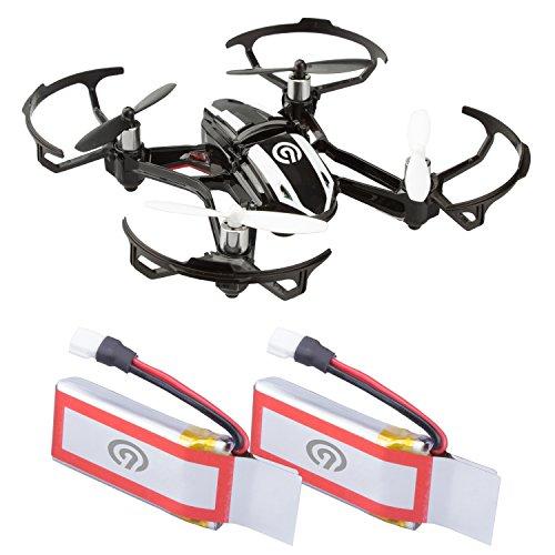 NINETEC 2X Original 450mAh Ersatz Akku Batterie für Spyforce1 Mini Video Drohne