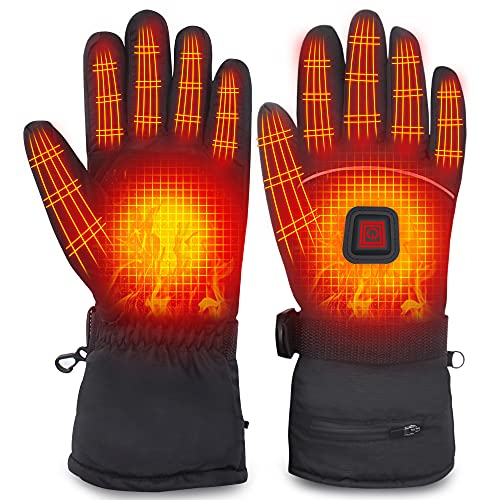 Electric Heated Gloves Rechargeable Battery Heated Thermal Gloves for...
