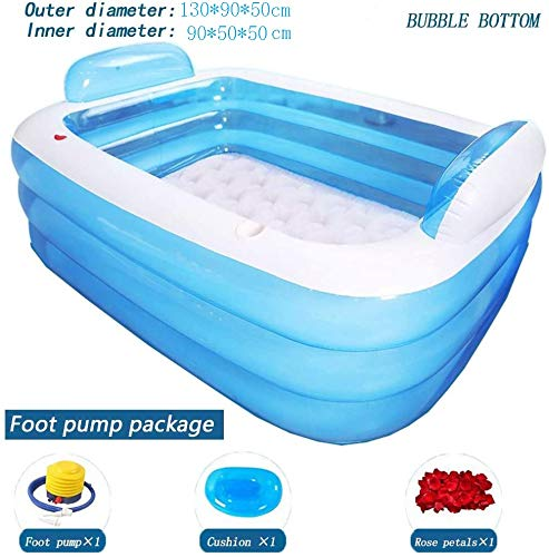 AXWT Aufblasbare Folding Bad Pool, aufblasbare Badewanne Startseite Adult-Badebottich Kinder Badewanne übergroßes Schwimmbad Eindickung Folding Badewanne bewegliche Spielraum-Dusche Waschbecken for Ba