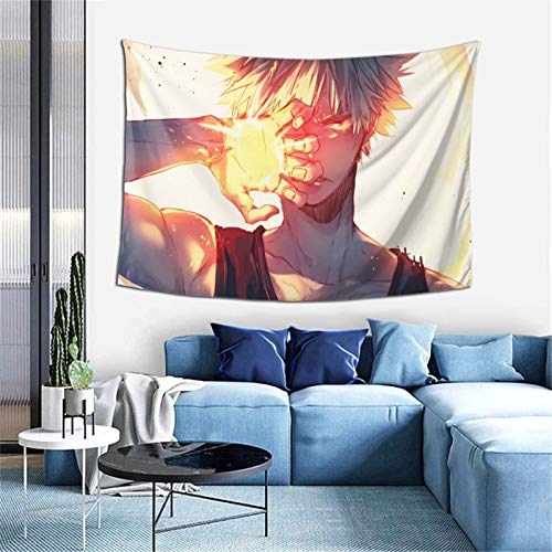 Anime My Hero Academia Tapestry Blanket Window Drape Home Decor Curtain Covering Bedroom Collage Dorm Office 60X40 inch