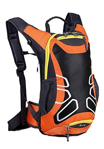 hwjianfeng 15L imperméable vélo de sac à dos sac de voyage Ultralight pour Sport Outdoor équitation Backpack, Orange