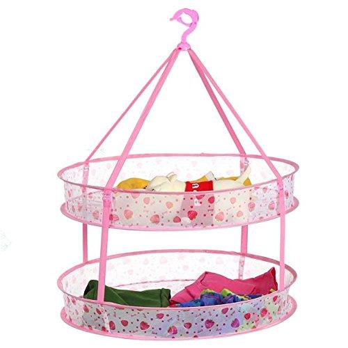 MZP le séchage des vêtements panier à linge panier à linge à double racks de tuiles filet à mailles épais corde à linge pour sécher des vêtements suspendus filet de sac de chaîne de pull