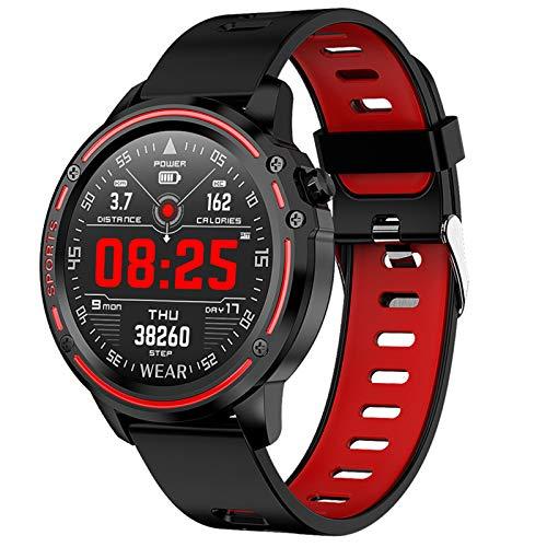 WEINANA Smart Watch Men IP68 Wasserdichter Modus Smartwatch Mit EKG PPG Blutdruck Herzfrequenz Sport Fitness Armband(Color:B.)