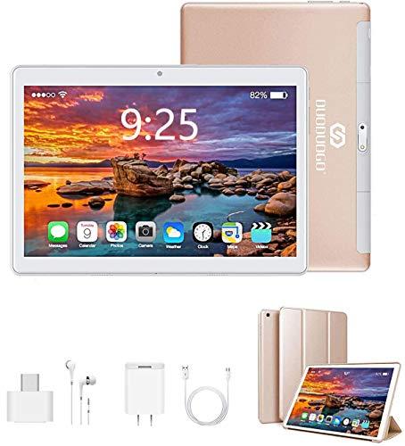 Tablet 10 Pollici con Wifi Offerte, 4G Tablet PC Offerte Android 9.0 RAM da 3GB 32GB ROM/128GB Quad-Core1.5 GHz Dual SIM DUODUOGO Android Tablet Offerta Del Giorno con Netflix/OTG