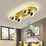 Deckenleuchte Gold Kinderzimmer Skateboard Lampe LED Dimmbar...