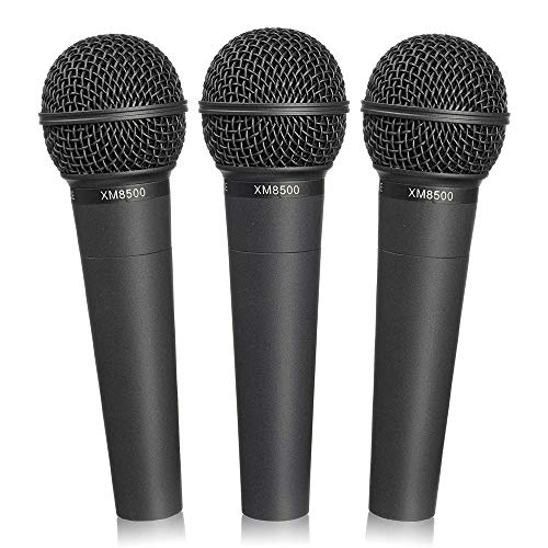 Behringer XM8500 Ultravoice Mikrofone, inkl. Tragetasche und Clips, 3 Stück