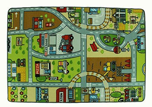 LucaHome – Alfombra Infantil Carretera, Juegos, Ciudad, alcolchada | Alfombra Infantil Plegable...