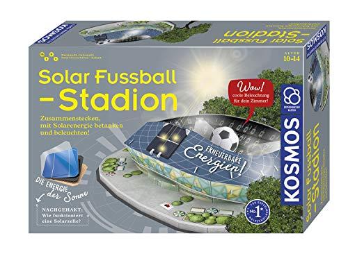 KOSMOS 628192 - Solar-Fußballstadion - Stadion zusammenstecken, mit Solarenergie betanken und beleuchten, Experimentierkasten zu erneuerbare Energien, für Kinder ab 10 Jahre