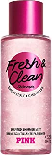 Victoria Secret Pink New! FRESH & CLEAN Shimmer Scented Body Mist 250ml