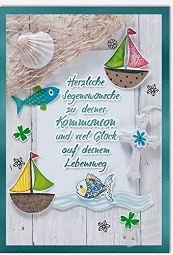 Kurt Eulzer Glückwunschkarte zur Kommunion Lebensweg, B6 + Umschlag