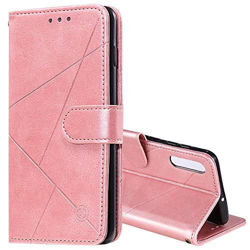 Snow Color Galaxy A70 / A70S Hülle, Premium Leder Tasche Flip Wallet Case [Standfunktion] [Kartenfächern] PU-Leder Schutzhülle Brieftasche Handyhülle für Samsung Galaxy A70/A70S - COHH060177 Rosa Gold