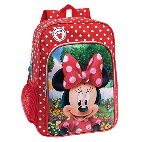 Disney Minnie Garden Set de Sac Scolaire, 40 cm, 15.6 L, Rouge