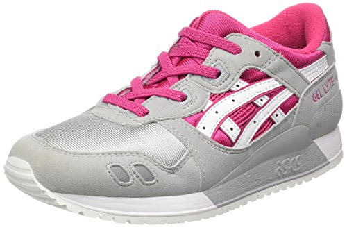 ASICS Unisex-Kinder Gel-Lyte III PS Trainer Low, Mehrfarbig (Sport Pink/White), 35 EU
