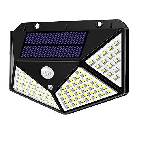Spriak Solar Lights Outdoor, Motion Sensor Lights, 100 LED 270° Wide Angle Lighting, IP65 Waterproof Security Lights for Porch, Garage, Yard, Fence, Step, Pack of 1