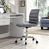 Height-Adjustable Stool Faux-Leather Chair for Salon/Spa/Bar/Medical/Kitchen/Doctor Stool Chair (Grey) by Finch Fox