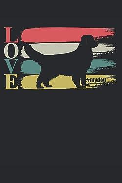 LOVE #mydog: 6 x 9 lined journal | Valentine's Day Love Lab paint My Lab is my Valentine dog dogs
