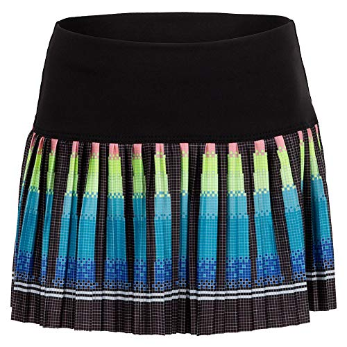 Lucky In Love Girls` Pleated Tennis Skort Squared Up (SMALL Black)