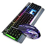 SADES WhisperⅡGaming Keyboard and Mouse Combo Wired LED RGB Backlit,104 Keys...