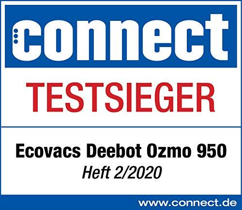 ECOVACS DEEBOT OZMO 950 - Care, robot aspirapolvere 2 in 1 con funzione lavapavimenti e navigazione intelligente, controllo Google Home, Alexa e app + salviette per la pulizia